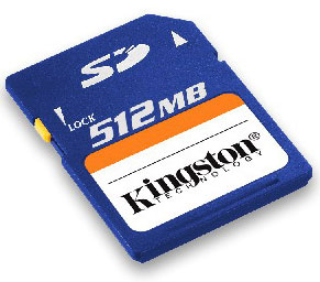 kingston 512mb secure digital