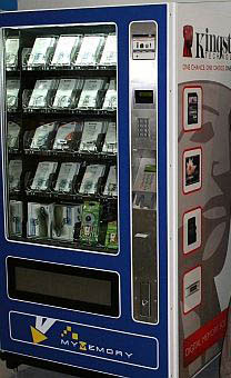 flash memory vending machine