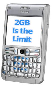 nokia e61 storage limit