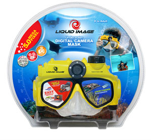 underwater mask with microsd